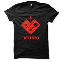 I Love Music T-shirt, s,  black