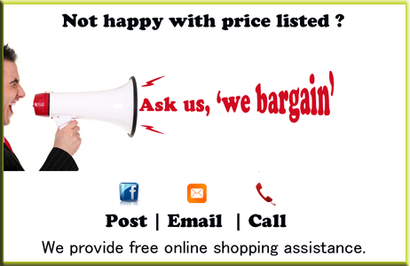 Click here & ask us any product to bargain for cheap price