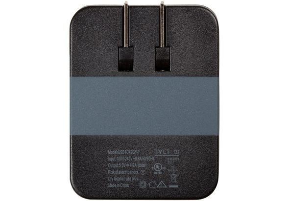 Tylt 4.2A-WALL travel charger, Gray