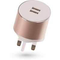 Kit Platinum Dual USB Mains Charger 3.4A Auto Detect, Rose Gold