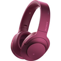 Sony MDR100ABN/P Noise Cancellation Bluetooth Headphones, Bordeaux Pink