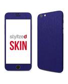 Stylizedd Premium Vinyl Skin Decal Body Wrap for Apple iPhone 6S - Brushed Steel Blue