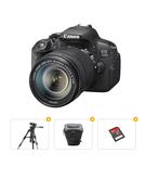 Canon 700D Kit 18-55 Plus Tripod Plus Carry Case Plus Ultra SD Card 16GB