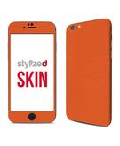 Stylizedd Premium Vinyl Skin Decal Body Wrap for Apple iPhone 6S - Fine Grain Leather Orange
