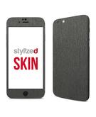 Stylizedd Premium Vinyl Skin Decal Body Wrap for Apple iPhone 6S - Brushed Steel