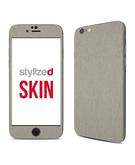 Stylizedd Premium Vinyl Skin Decal Body Wrap for Apple iPhone 6S - Brushed Titanium