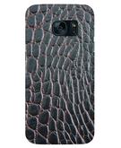Stylizedd Samsung Galaxy S7 Edge Premium Slim Snap case cover Matte Finish - Cowhide Leather (Brown-Black) STZ-S7E-S-M-176