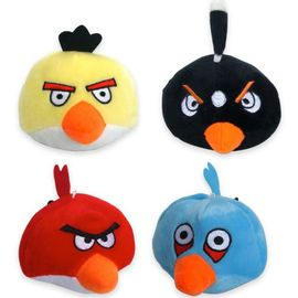 Nunbell Angry Bird Plush Squeaky Soft Toys for Pets, black
