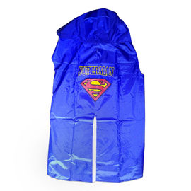 Rays Premium SuperMan Print Raincoat for Large Dogs, blue, 26 inch