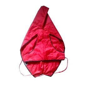 Zorba Designer Dual Protection Solid Raincoats for Giant Dogs, maroon, 30 inch