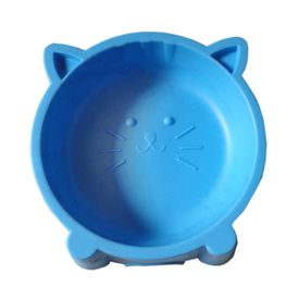 Kitty Cat Face Big Pet Feeding Non-Slip Bowl, green