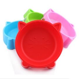 Kitty Cat Face Small Pet Feeding Non-Slip Bowl, red