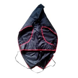 Zorba Designer Dual Protection Black Raincoat for Large Dogs, black, 28 inch