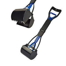 Super Dog Foldable Super Potty Scooper, black blue