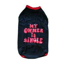 Rays Fleece Warm Owner Single Rubber Print Tshirt for Large Dogs, 26 inch, navy