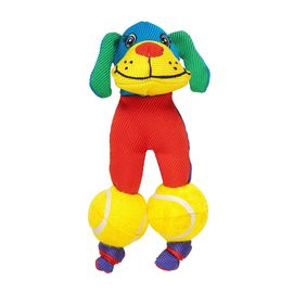 Chomper Jr. Tuff Tennis Tots Dog Toy, puppy face