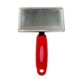 High Quality Professional Slicker Brush for Large & Giant Breed Dogs, red, large