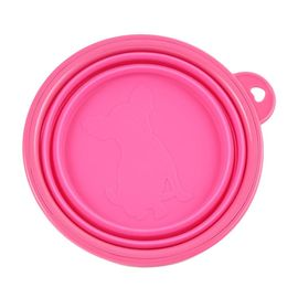 Pawz n Clawz Foldable Travel Pet Bowl for Dogs and Cats, pink