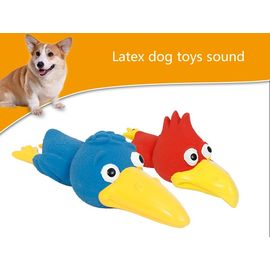 Canine Bird Shape Latex Squeaky Toy, blue