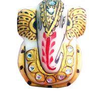 Marble Golden Ganesh