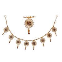 Torans / Door Hanging/ Bandhanwar in Pearls and Golden Brown stone