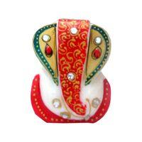 Marble Golden ear Ganesh