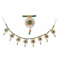 Torans / Door Hanging/ Bandhanwar in Pearls and green motis