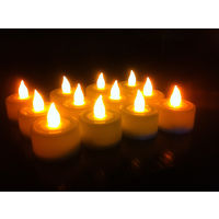 Yellow Tealight LED Candles - Set of 12