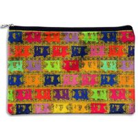 Vibrant Taxis Collage Utility Pouch