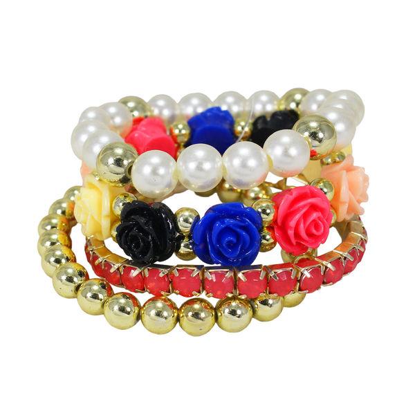 Multi Color Four Adjustable Bracelets For Girls, adjustable