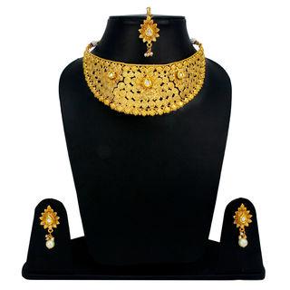 Mini Bridal Necklace Set With Copper Finish