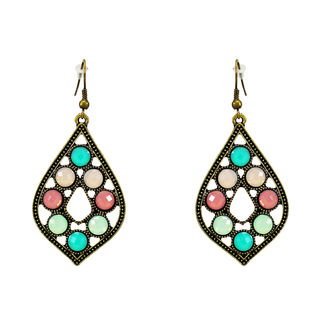 Multi-Color Oxidised Metal Fashion Danglers For Women