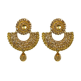 Designer Ethnic Dangler In Golden Stones