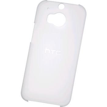 HTC ONE M8 HARD SHELL TRANSLUCENT,  white