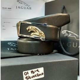 New Stylish Jaguar Leather Black Belt For Men