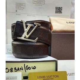 Louis Vuittion Formal Dark Brown Belt For Men