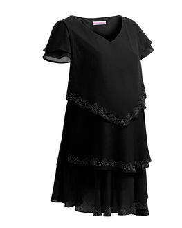 Beautiful Three Layered Maternity Dress in Black, large