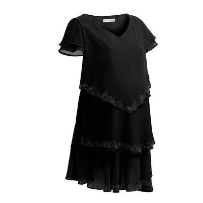 Beautiful Three Layered Maternity Dress in Black