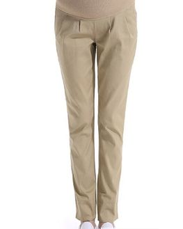 Maternity Formal Trouser with Adjustable WaistBand, beige, medium