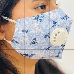 Face Mask with Respirator - Pack of 5 (100% Organic Cotton)