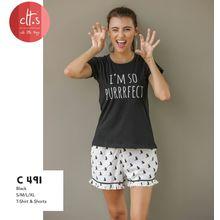 C491-T-shirt & Shorts, s
