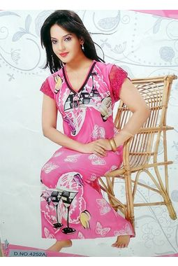 On piece designer nighty - JKNAV-1P-4252, pink, free  30-36 bust  30-34 waist  30-36 hips