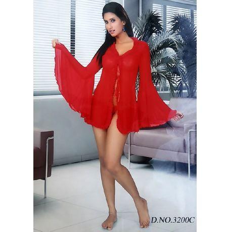 2 piece nighty - Valentine Love - JKNAV-2P-3200, love red