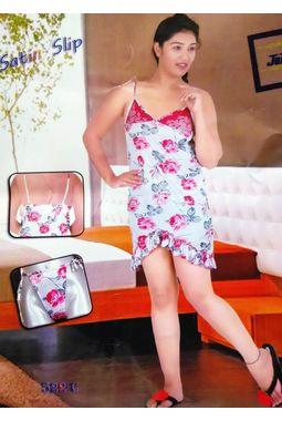Sexy Satin Babydoll - JKDELJAICH-Baby, 522c-greypinkwhite, free  30-36 bust  30-34 waist  30-36 hips