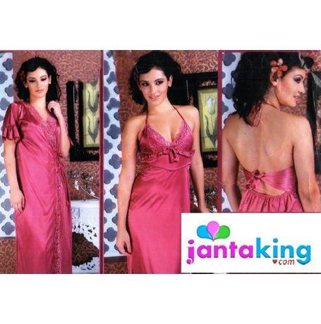 2 piece premium nighty - Full lace excellent design - JK2P- S344, love color - wine red