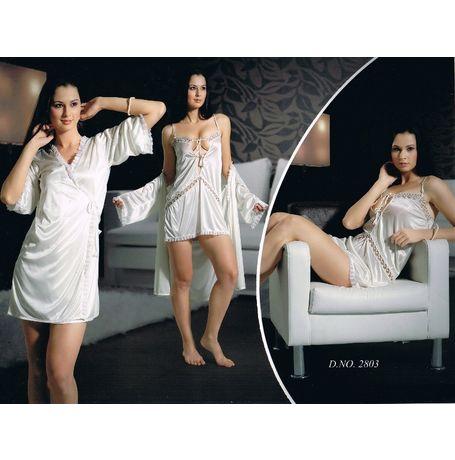 Honeymoon 2 piece nighty - Sensual and Sexy - JKNHNS-2803, brinjal