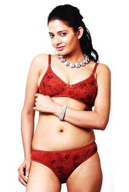 Sunaina Bra Panty Set - JKLOVSET-SUNAINA, 32b, rust - catalog color