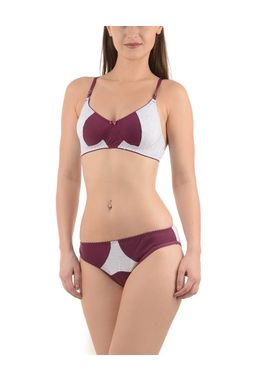 Super Chic Bra panty Set -NANCY, 36b, purple