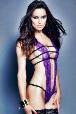 Vixen Teddy Lingerie - JKDLLC3185, voilet, free  30-36 bust  30-34 waist  30-36 hips , 1 dress