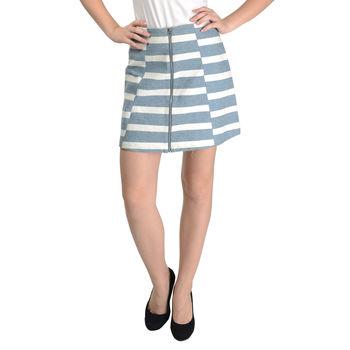 White Grey Stripe Skirt 5C15J6, s